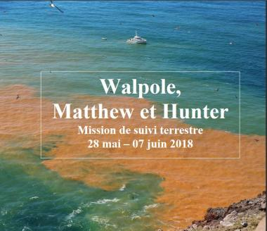 Mission à Walpole, Matthew et Hunter en 2018