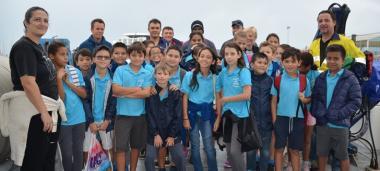 Visite de l'Amborella par les CM2 de l'école Suzannr Russier