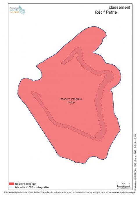 Classement en réserve intégrale du récif Pétrie