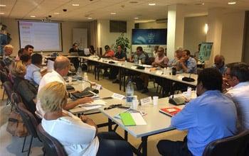 Les membres du comité de gestion en séance, DAM SPE