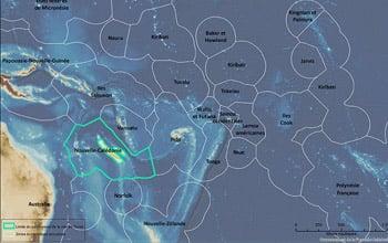 Carte du Parc naturel de la mer de Corail, contexte régional, (c) DAM SPE.