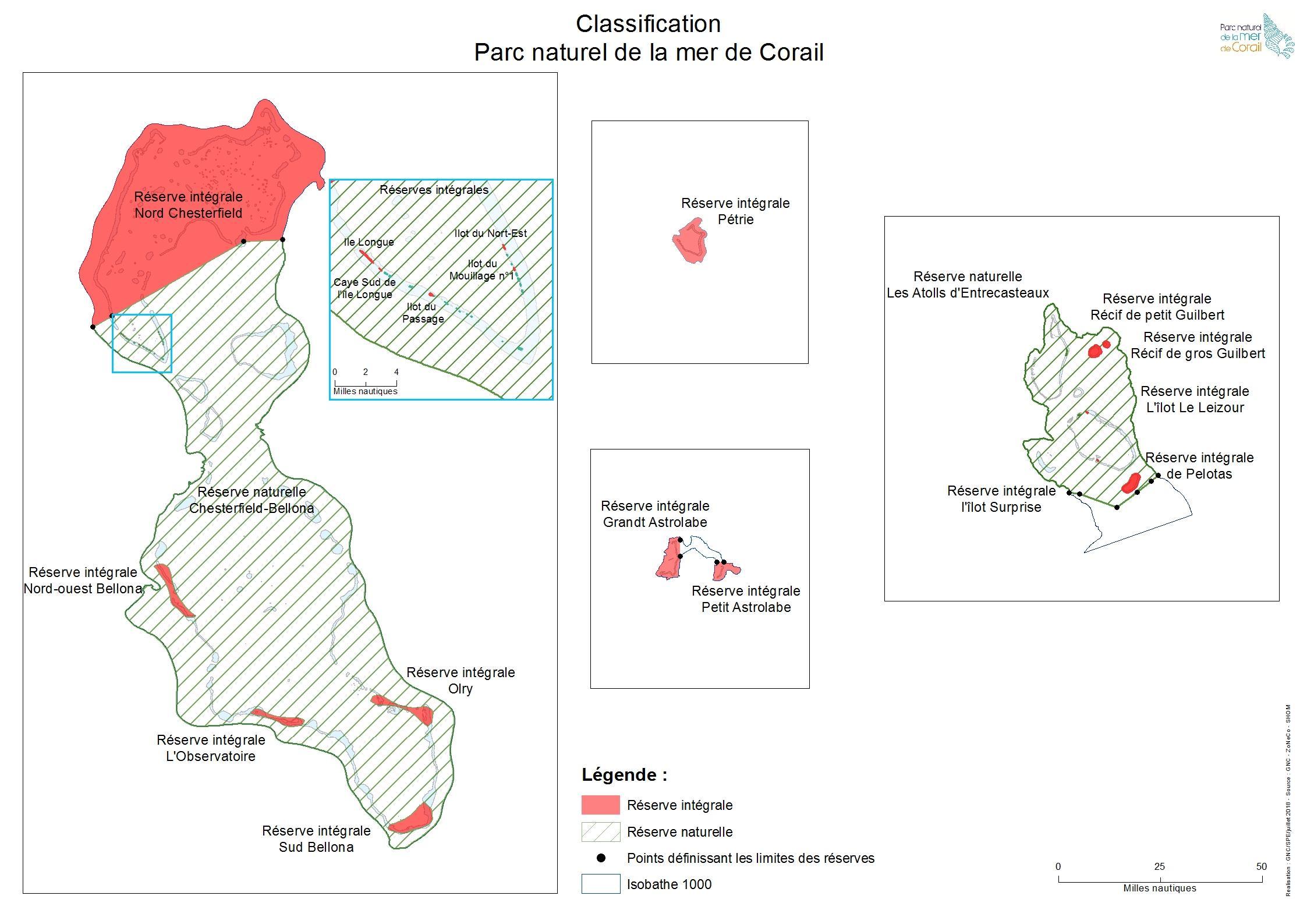 Carte PNMC classement en réserves