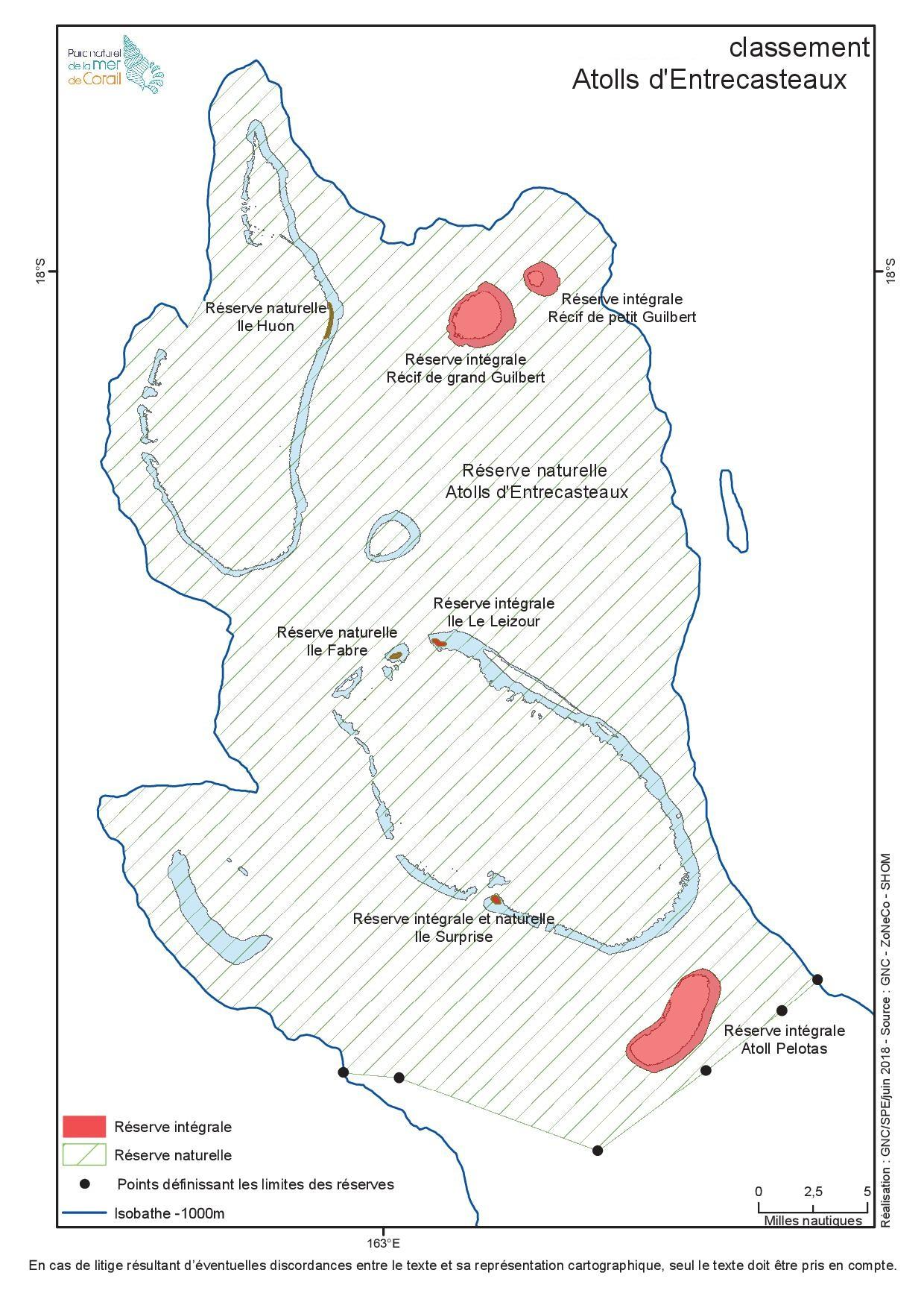 Classement en réserve naturelle et intégrale des atolls d'Entrecasteaux