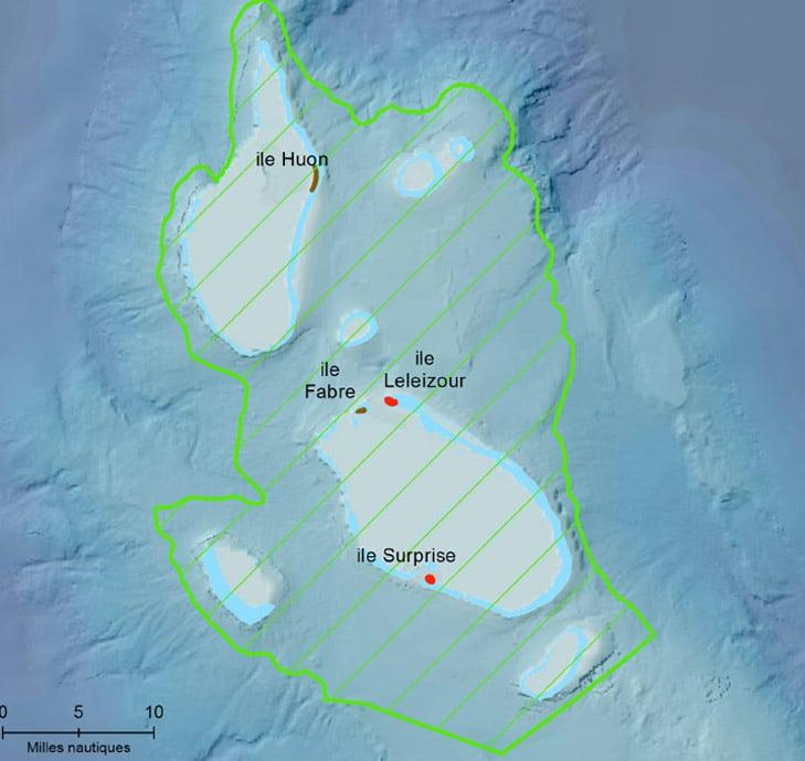 Carte avec les zones protégées