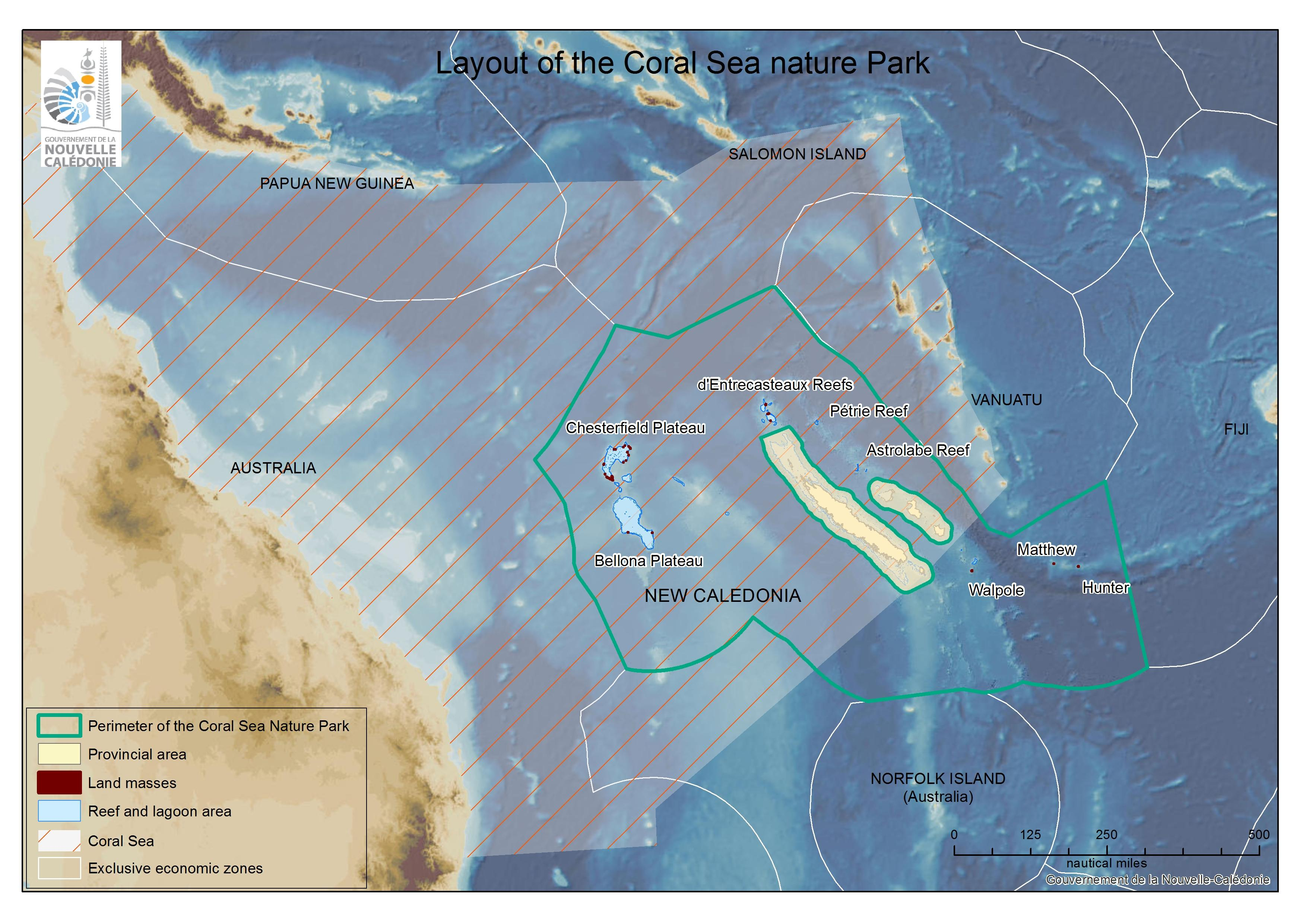 Coral Sea and New-Caledonia's maritime zones, DAM SPE