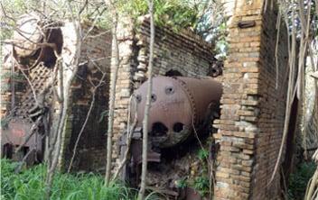 Vestige industriel de l'exploitation du guano sur l'île de Walpole,  DAM SPE