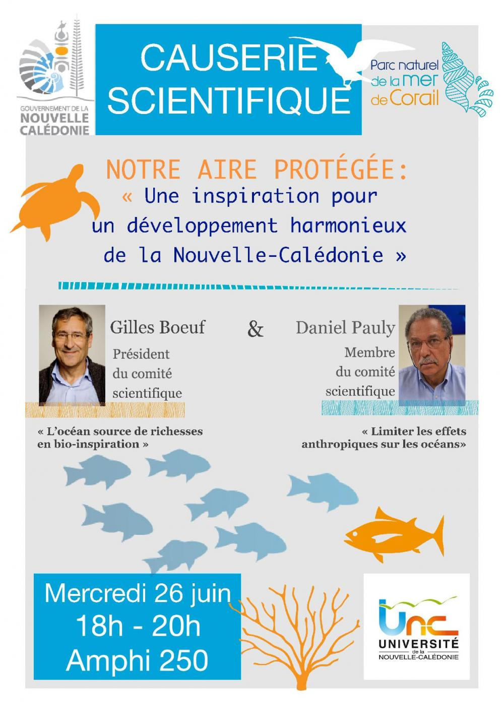 Conférence Gilles Boeuf et Daniel Pauly